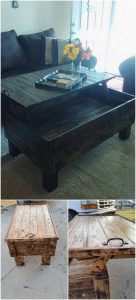 Pallet Liftup Top Coffee Table