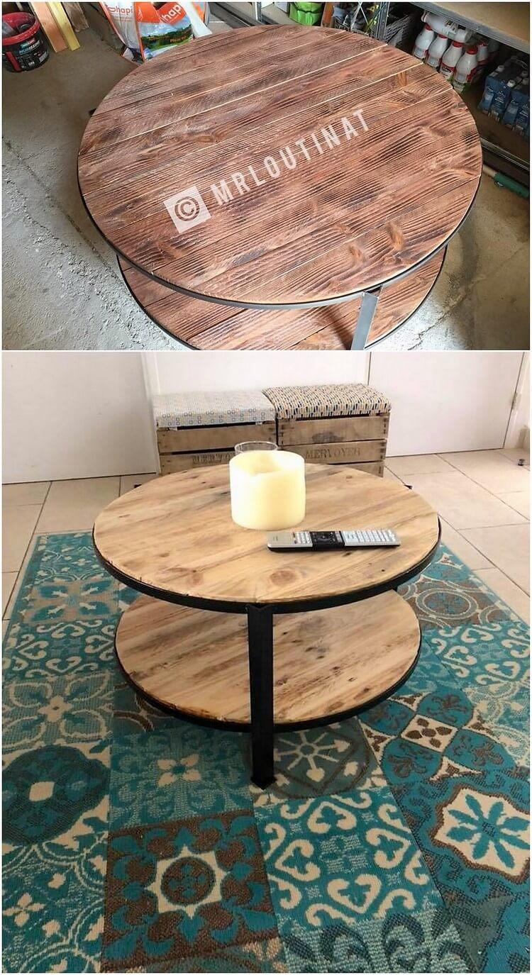 Wood Pallet Round Top Table - DIY & Crafts