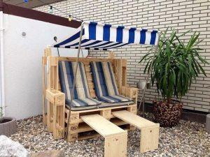 Wooden Pallet Strandkorb
