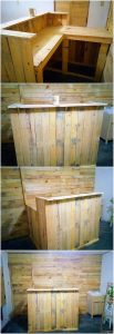 Pallet Counter Table and Wall Paneling