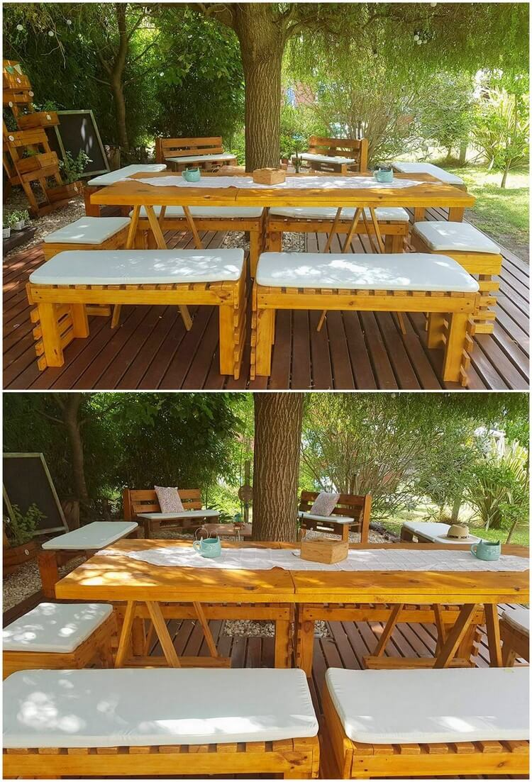 Pallet Outdoor Dining Furniture Set
