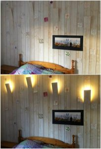 Pallet Wall Paneling with Lights