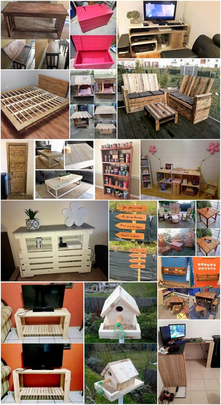 Awesome Ideas Made with Upcycled Wood Pallets