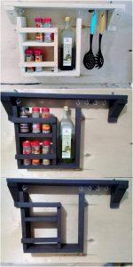 Pallet Kitchen Shelf or Spice Rack