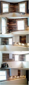 Pallet Kitchen Wall Paneling