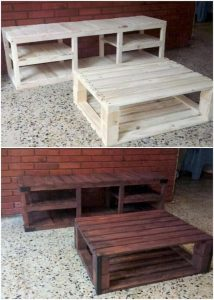 Pallet Media Table or Coffee Table