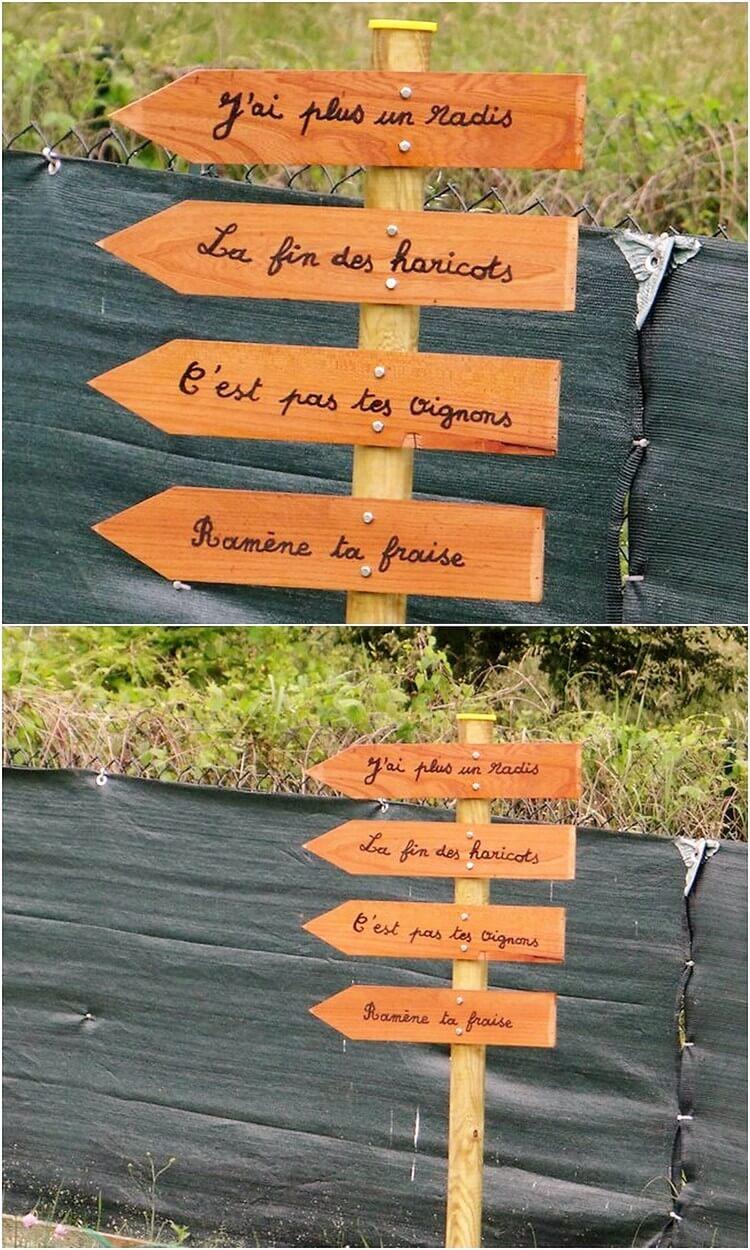 Pallet Sign Board