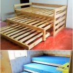 Pallet Tripple Bunk Bed