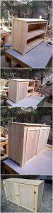 Wood Pallet TV Stand or Media Cabinet