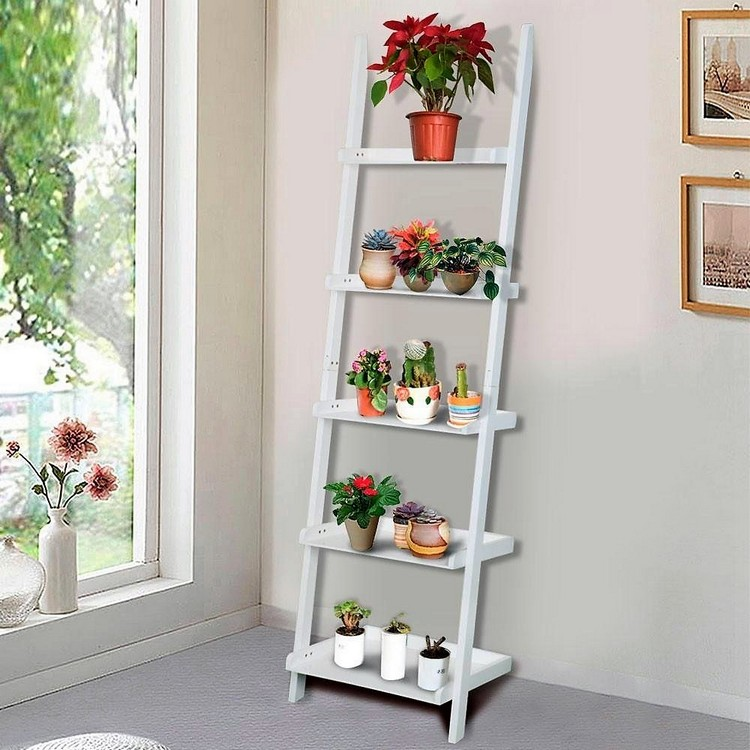 Ladder Shelf Planter Stand
