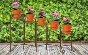 Metal Planter Pots Stand