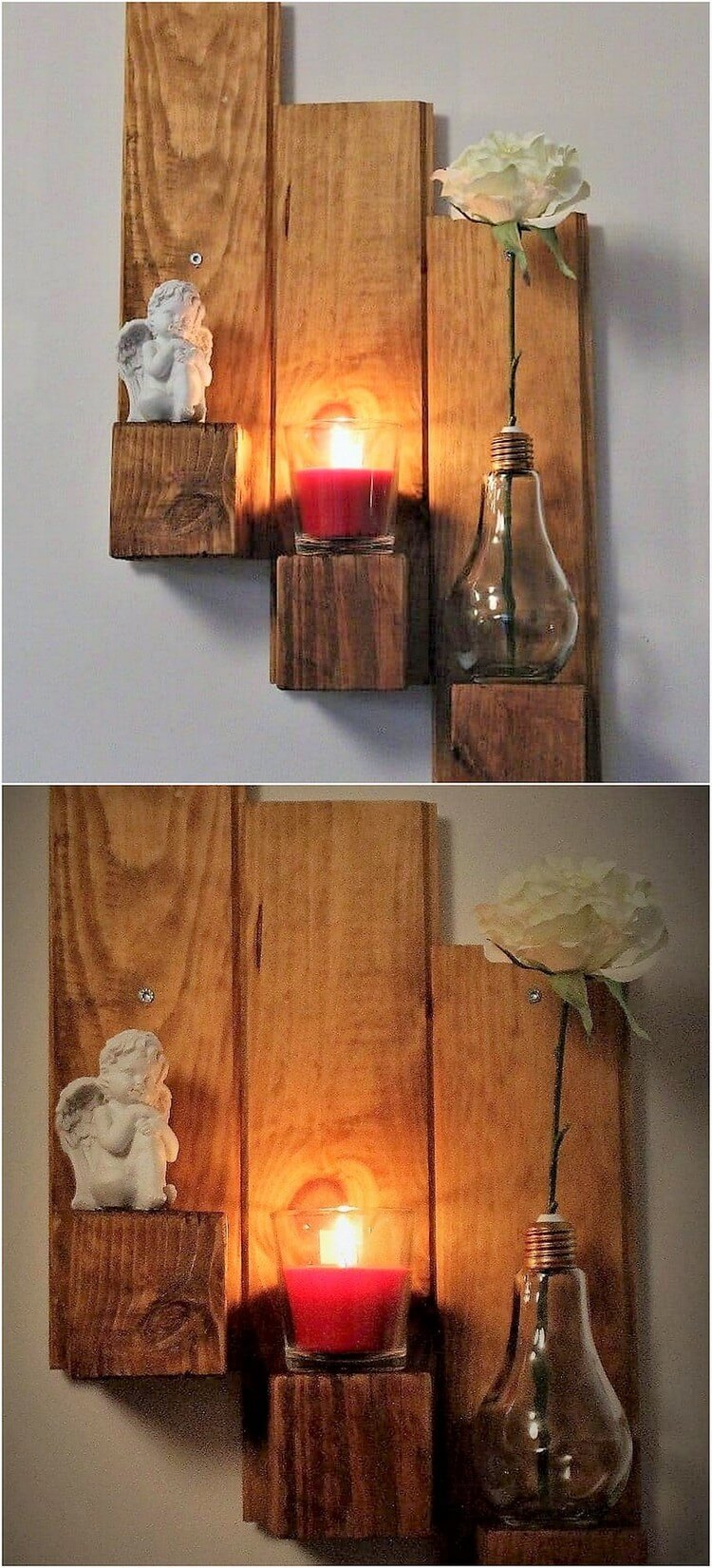 Pallet Candle Stand