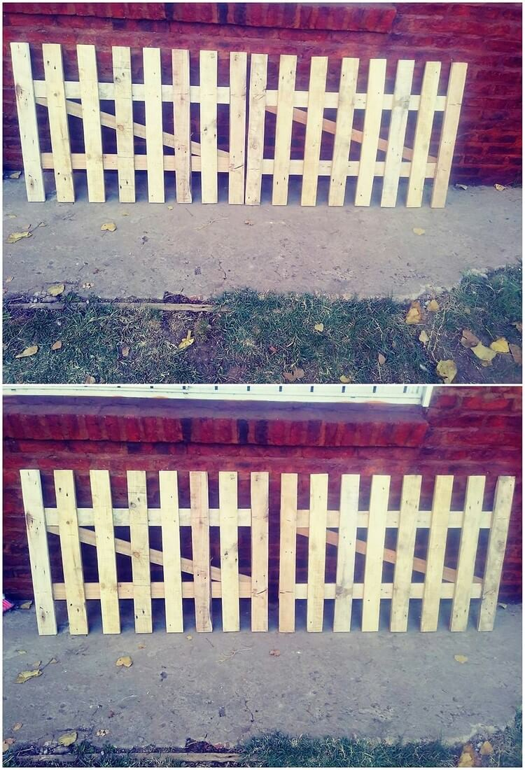 Pallet Garden Gate and Fence