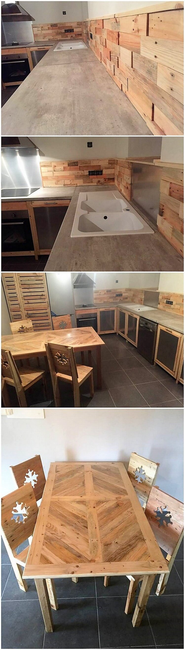 Pallet Kitchen Creation and Dining Furniture