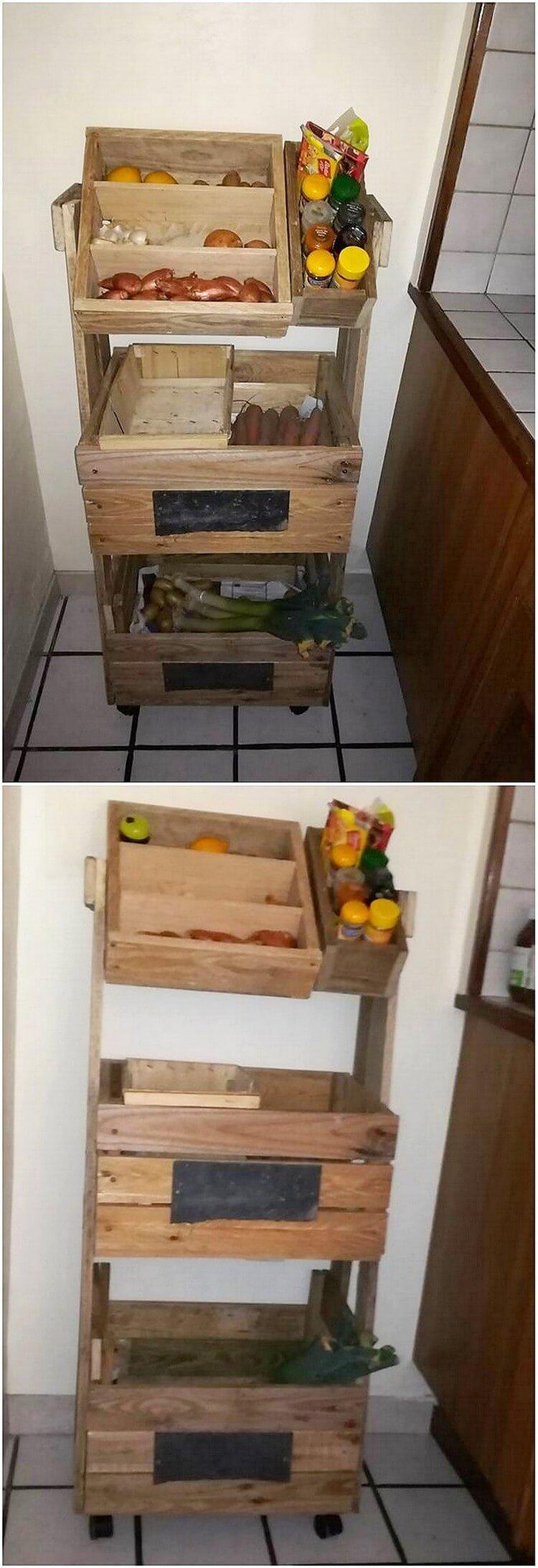 Pallet Vegetable and Fruit Rack
