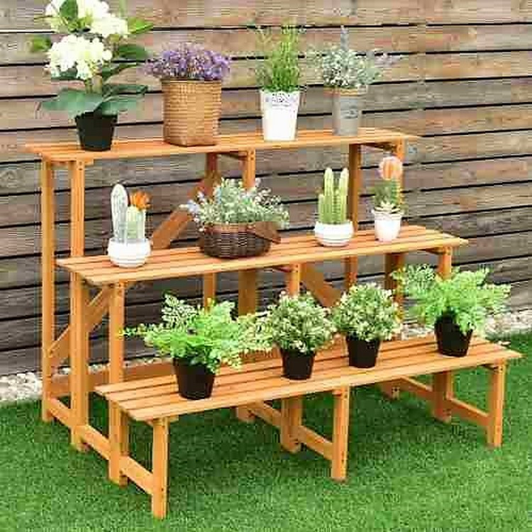Planter Pots Bench