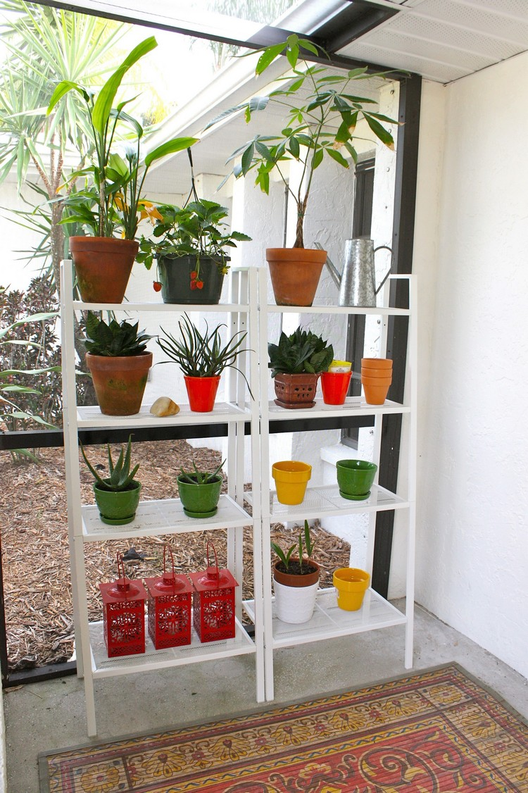 Planter-Stand-Ladder-Shelf