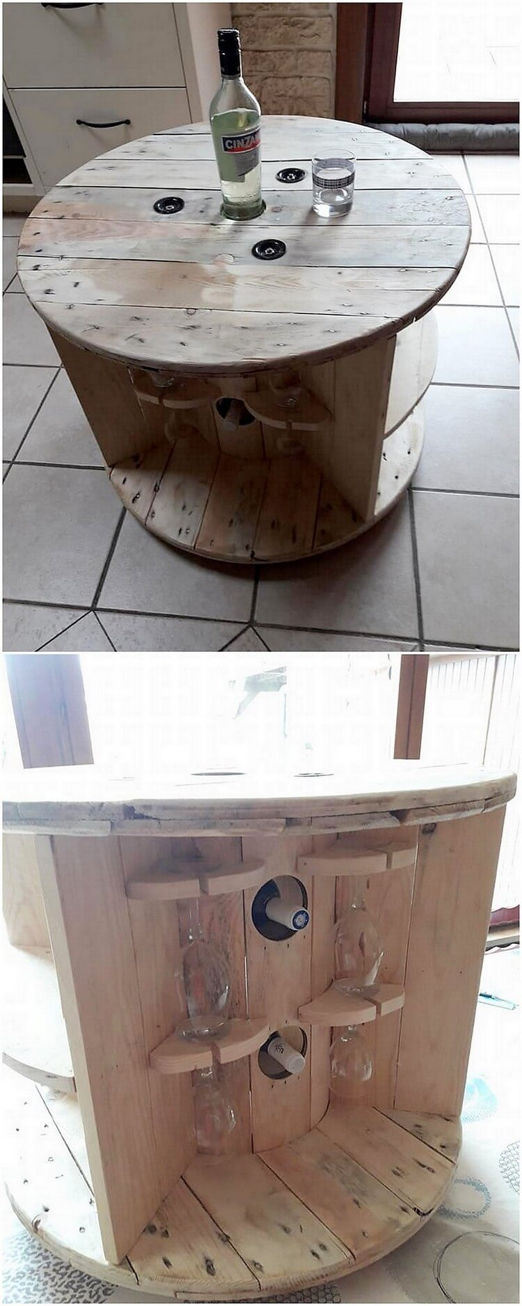 Round Pallet Table