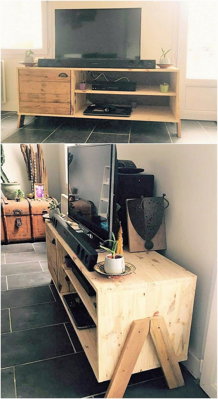 Wood Pallet TV Stand or Media Table