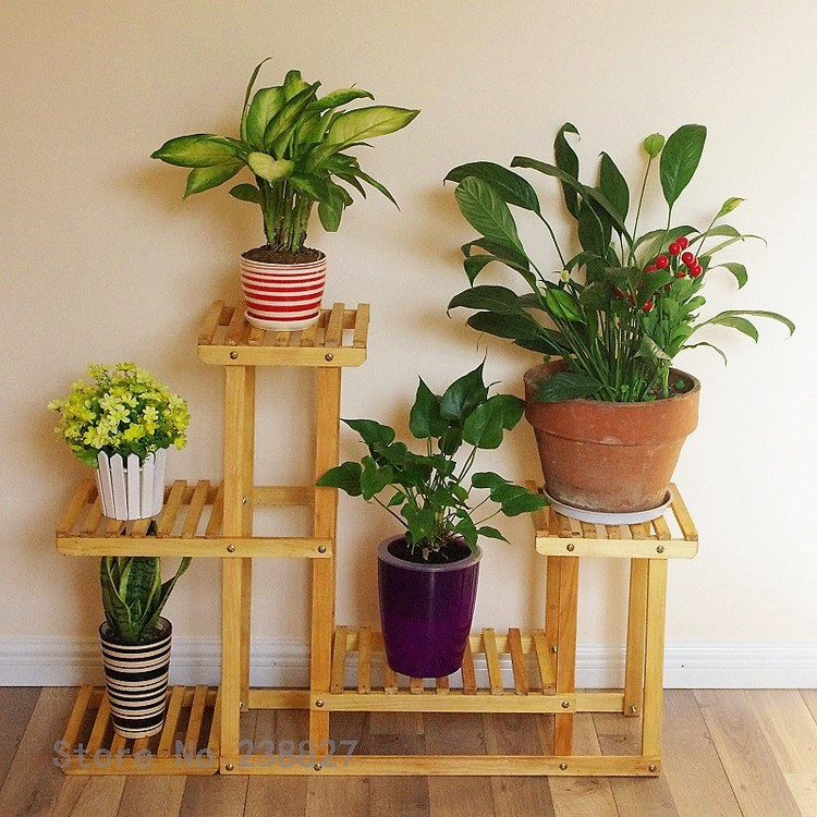 Wood Pots Stand