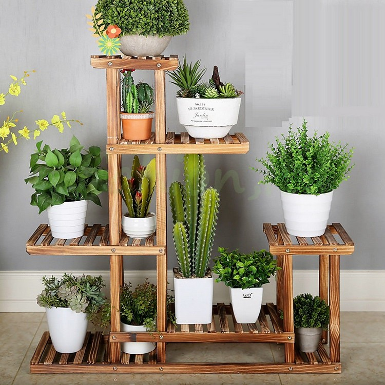 Wooden Planter Pots Stand