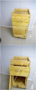 Pallet End Table with Storage