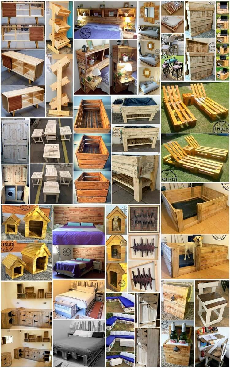 20+ Plans for Recycling Old Wooden Pallets