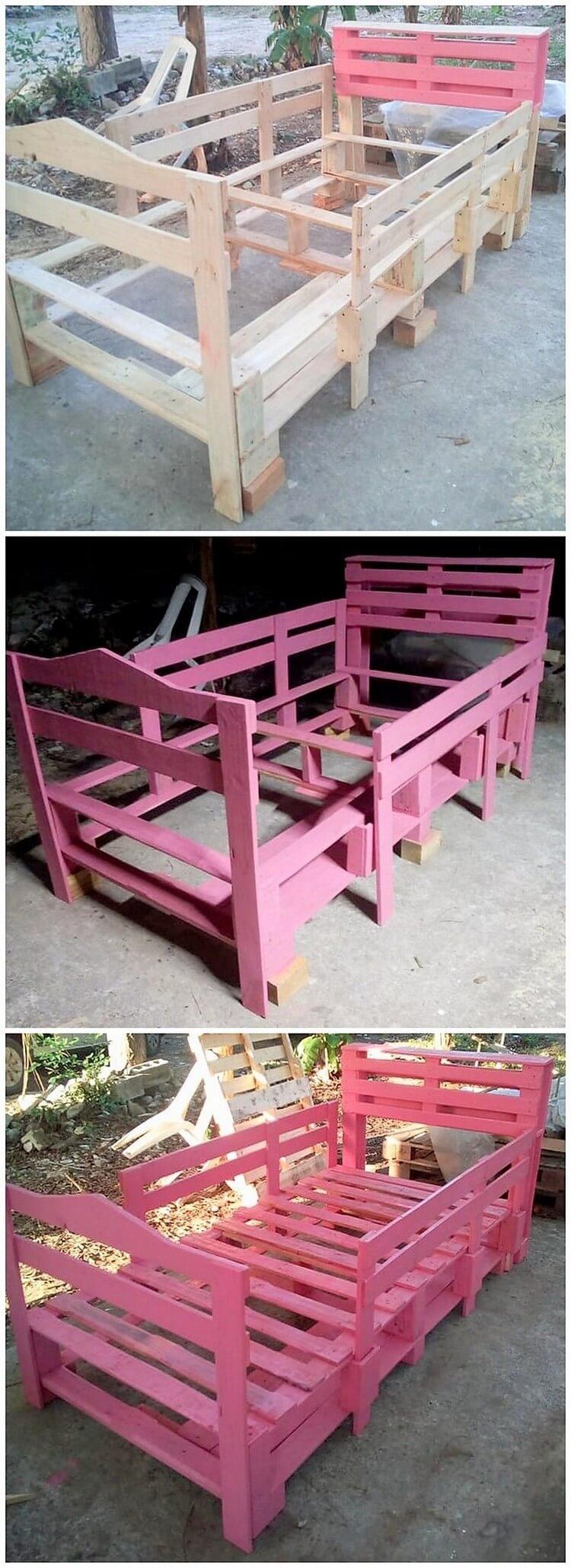 DIY Pallet Bunk Bed