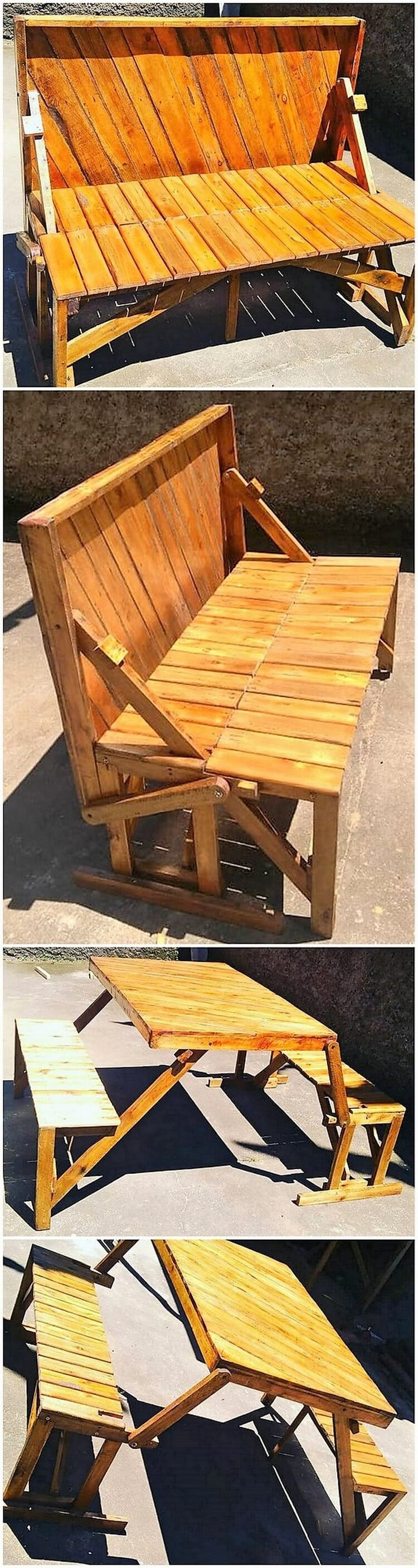 Pallet Benches with Table