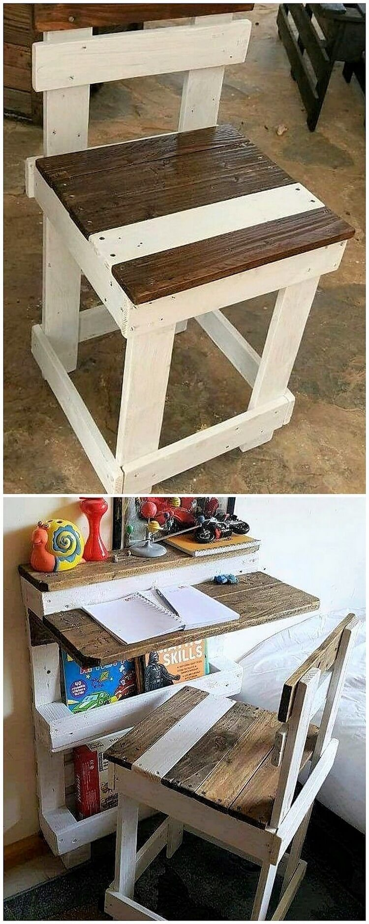 Pallet Chair and Study Desk