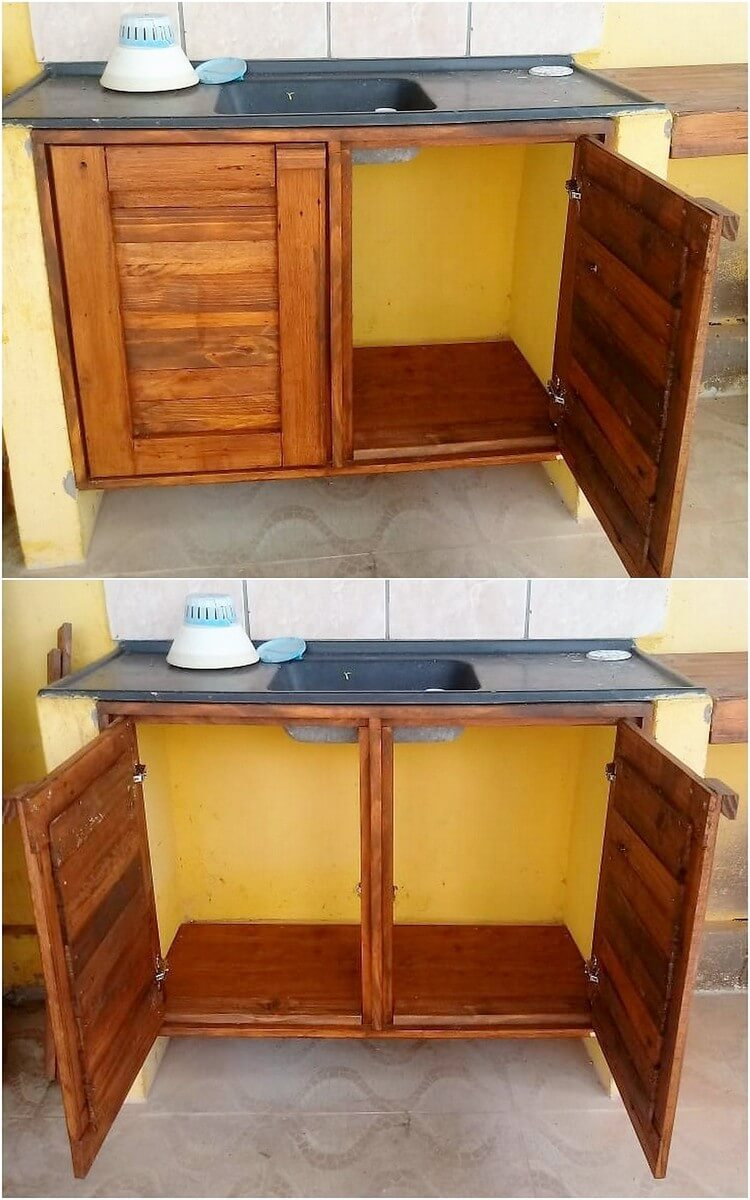 Pallet Kitchen Sink Cabinet