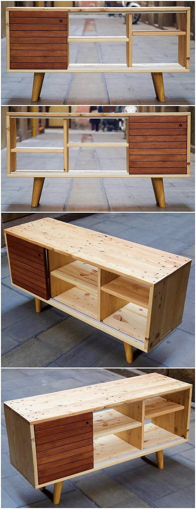 Pallet Shelving Table or Cabinet