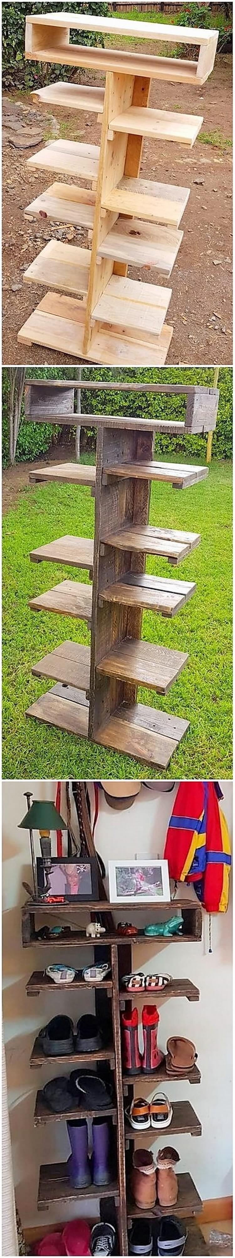 Wood Pallet Shoe Rack