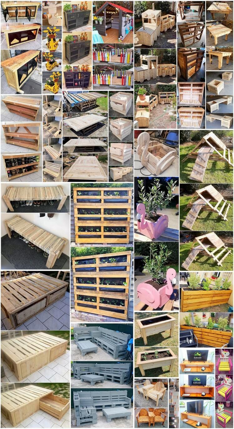 Modern Designed DIY Wood Pallet Creations