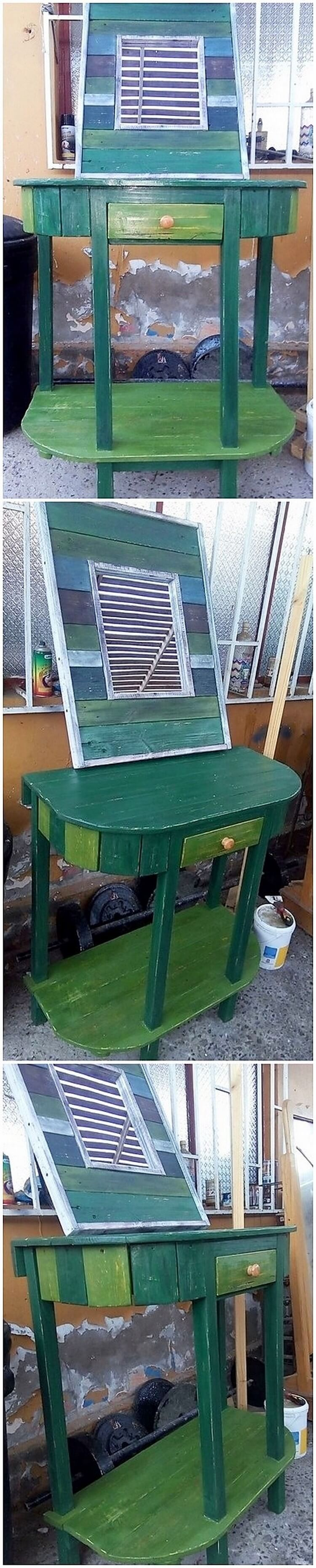 Pallet Dressing Table with Drawer
