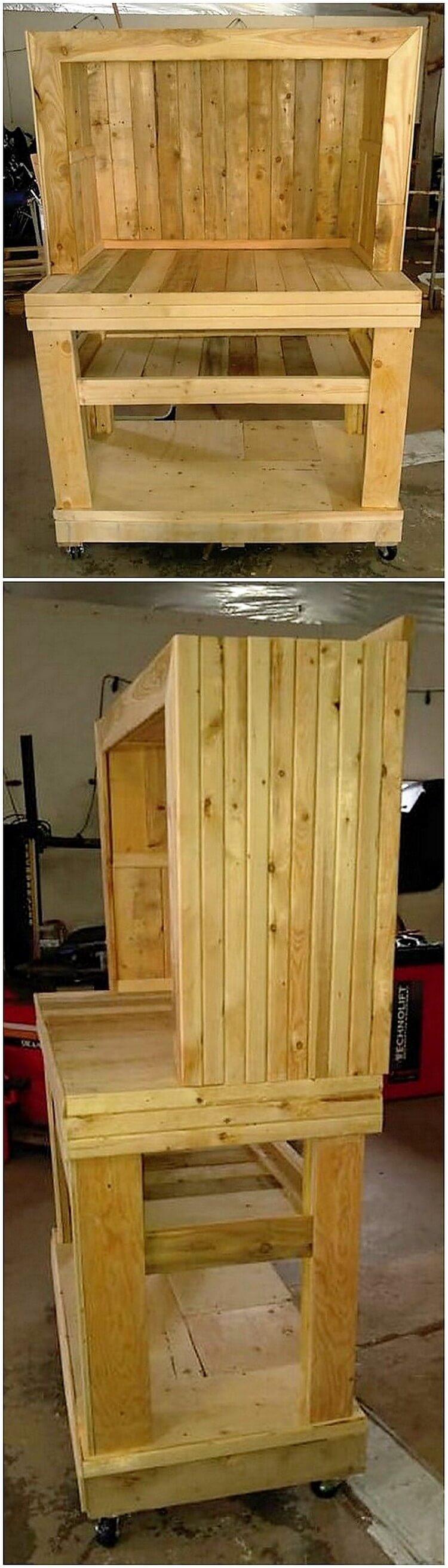 Wood Pallet Desk Table