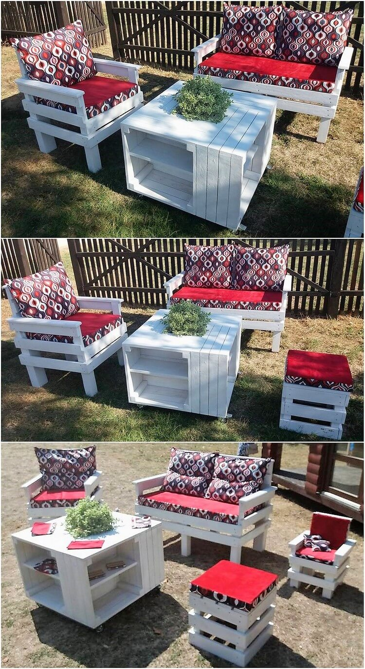 Pallet Garden Furniture Idea