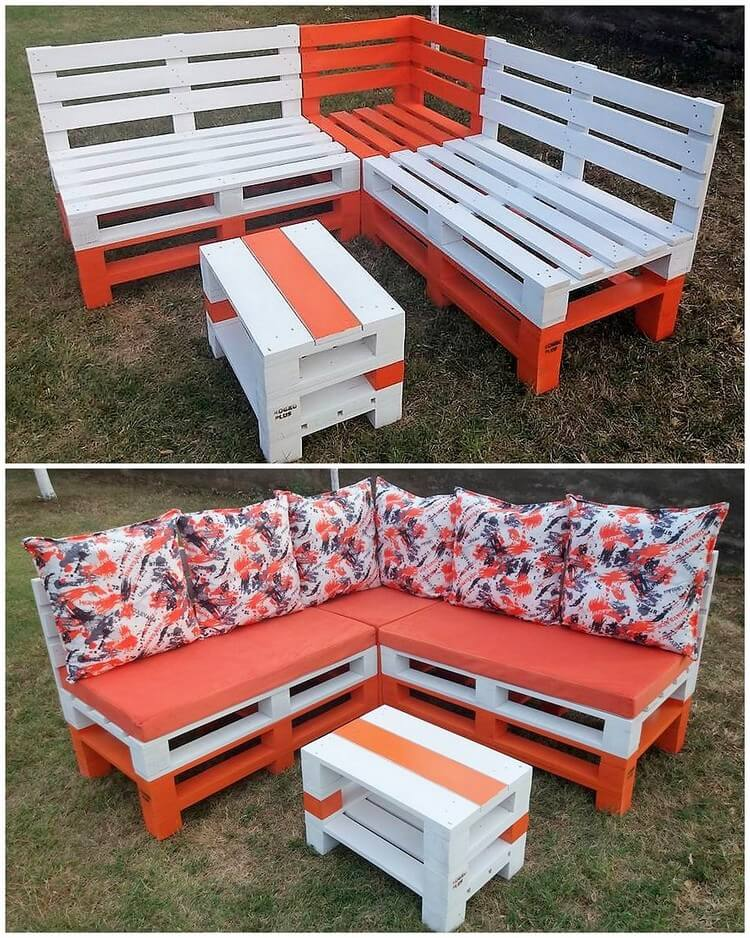 Pallet Garden Sofa and Table