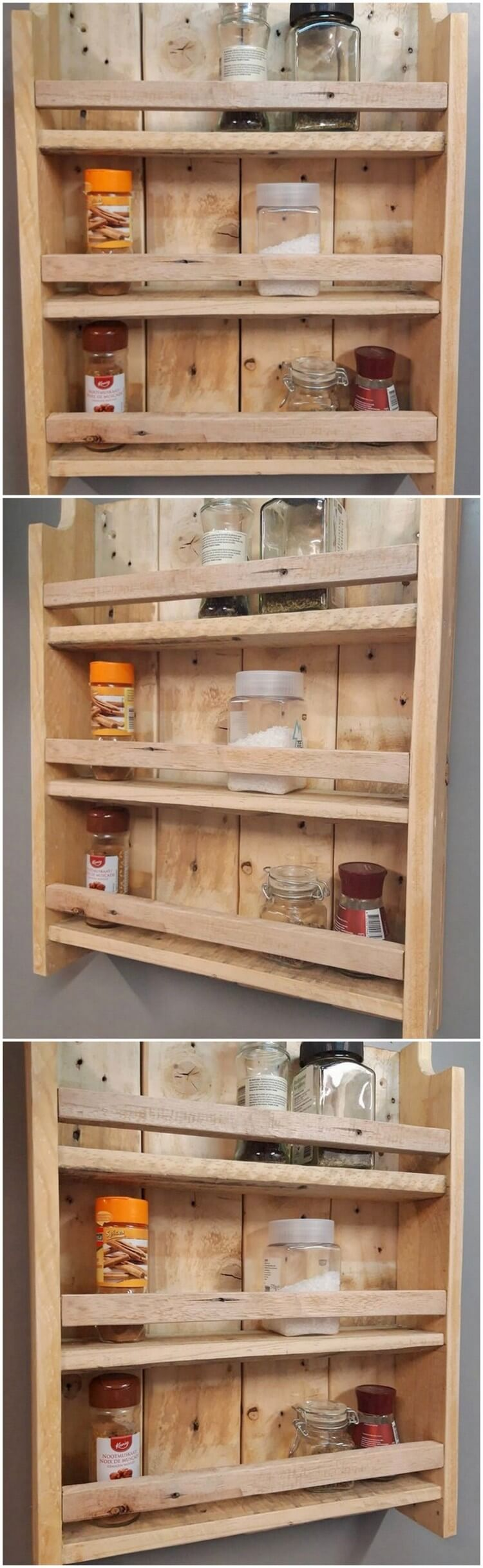 Pallet Kitchen Spice Rack
