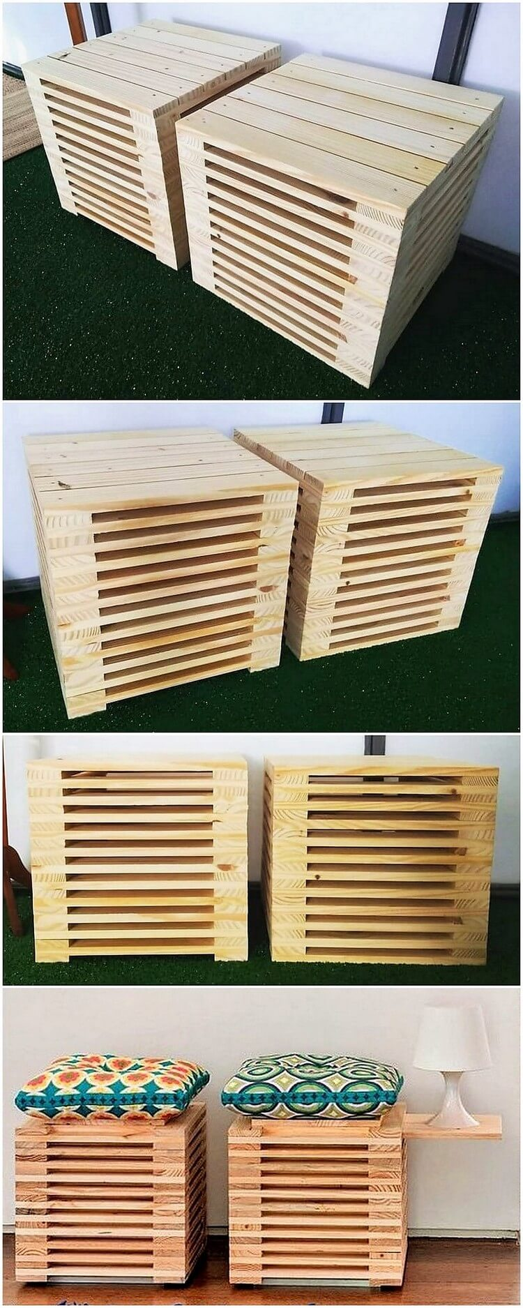 Pallet Side Tables or Seats