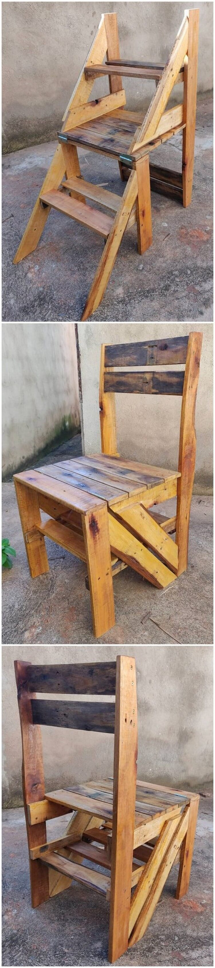 Pallet Stair or Convertible Chair