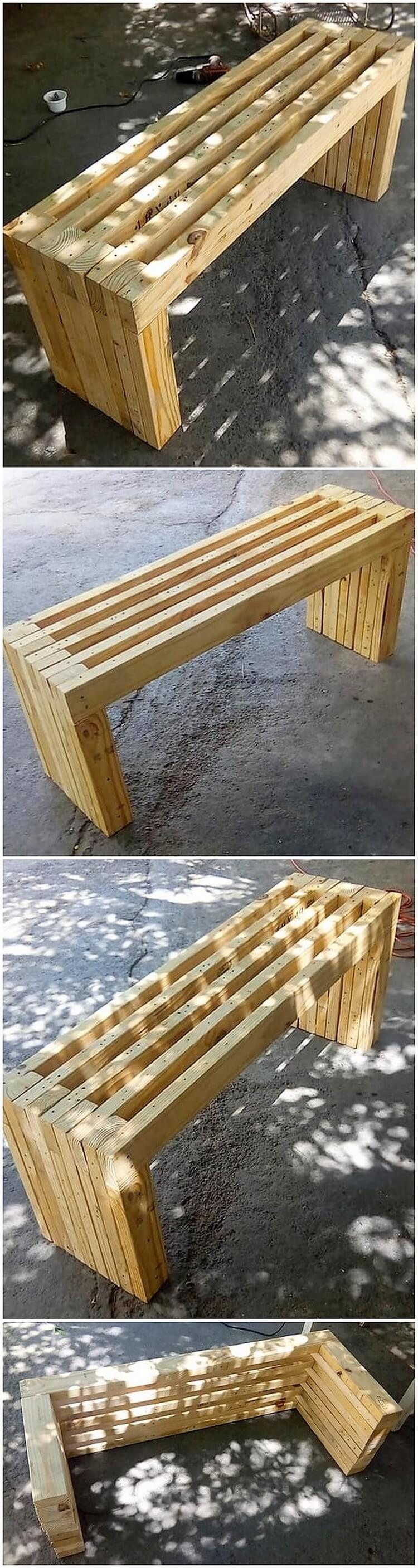 DIY Pallet Table or Bench