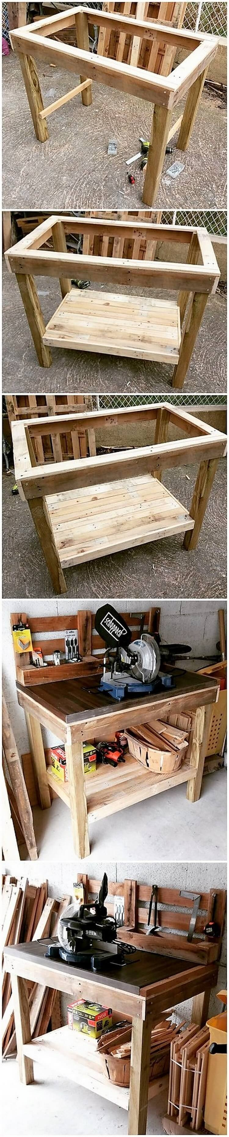 DIY Pallet Work Table