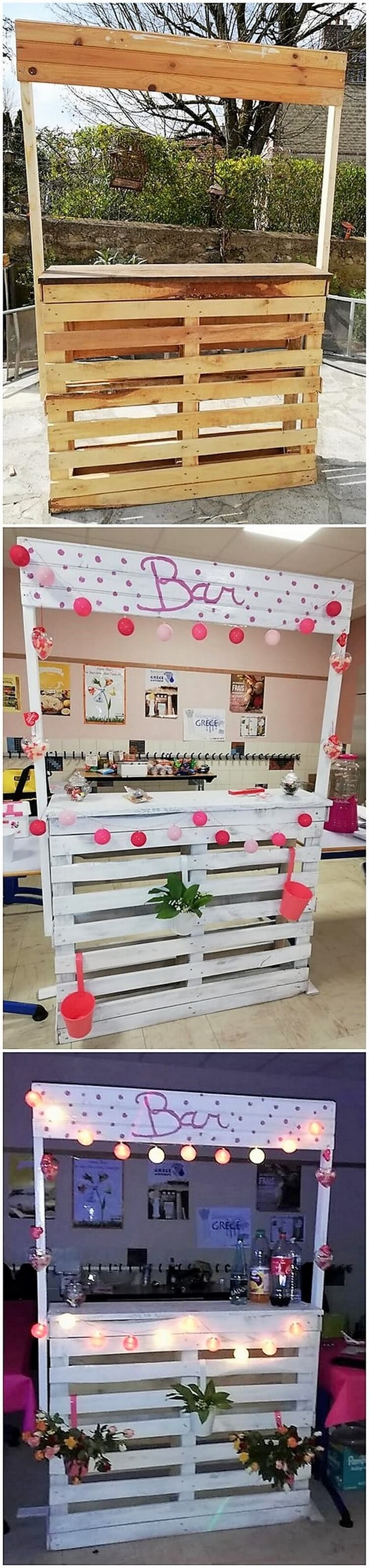 Pallet Bar Counter Table