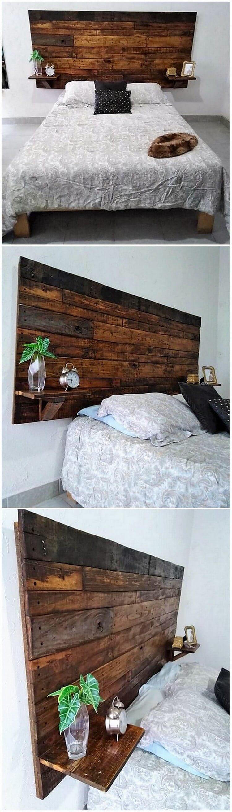 Pallet Bed Headboard