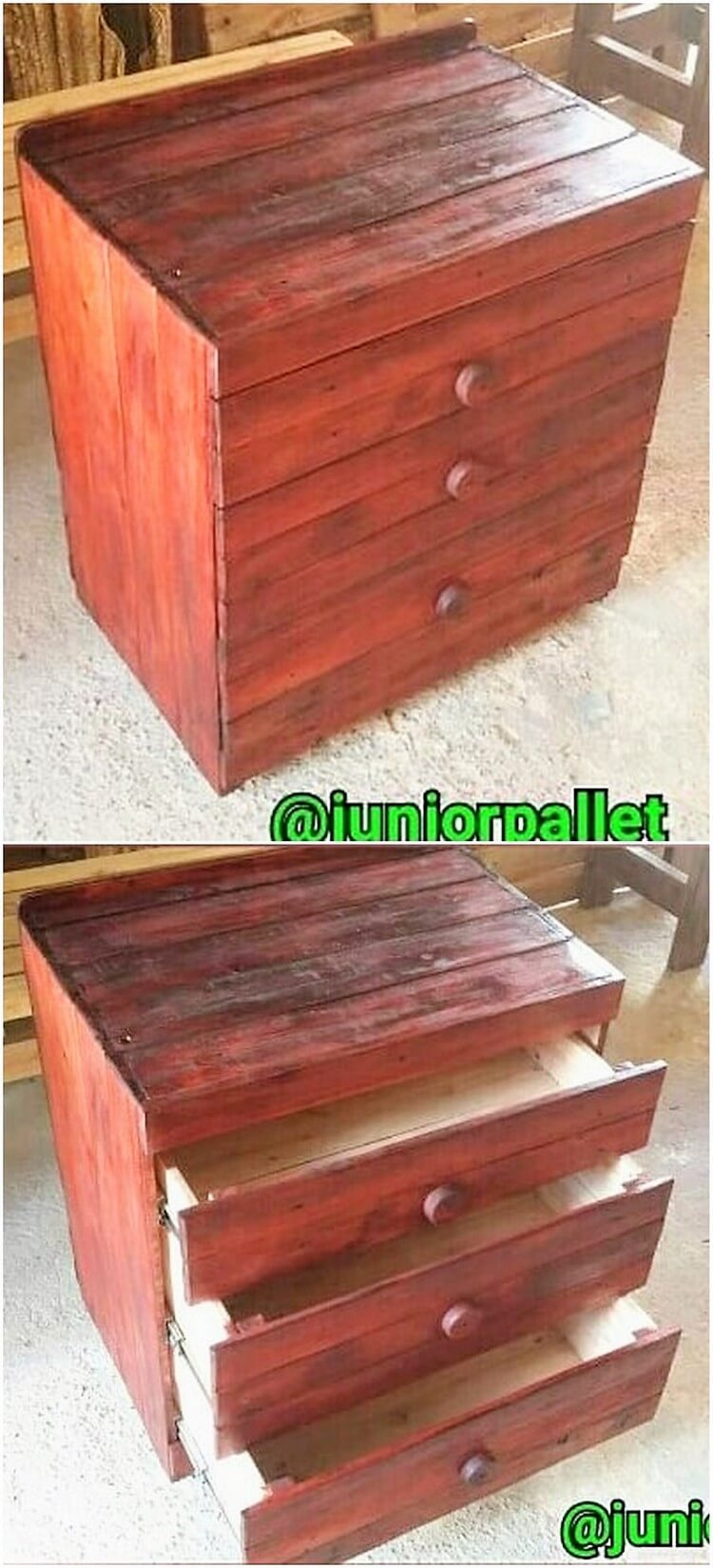 Pallet Chest fof Drawers