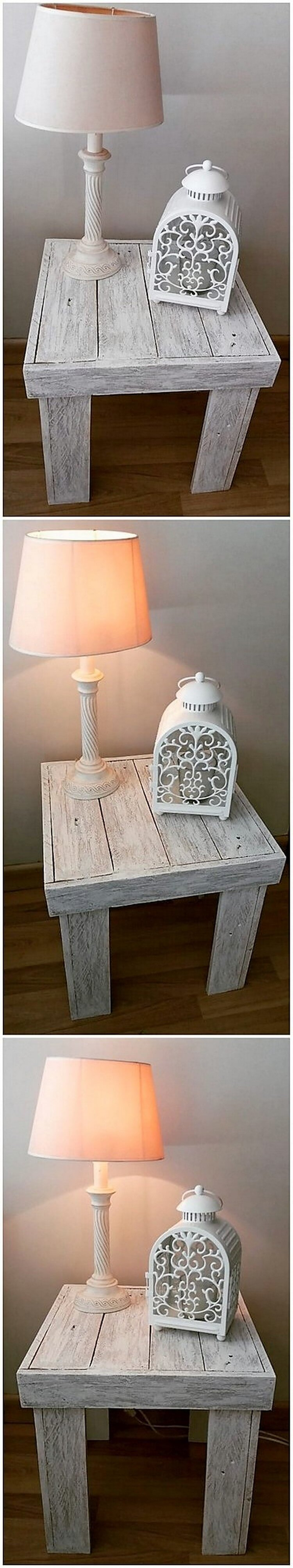 Pallet Lamp Stand or Side Table