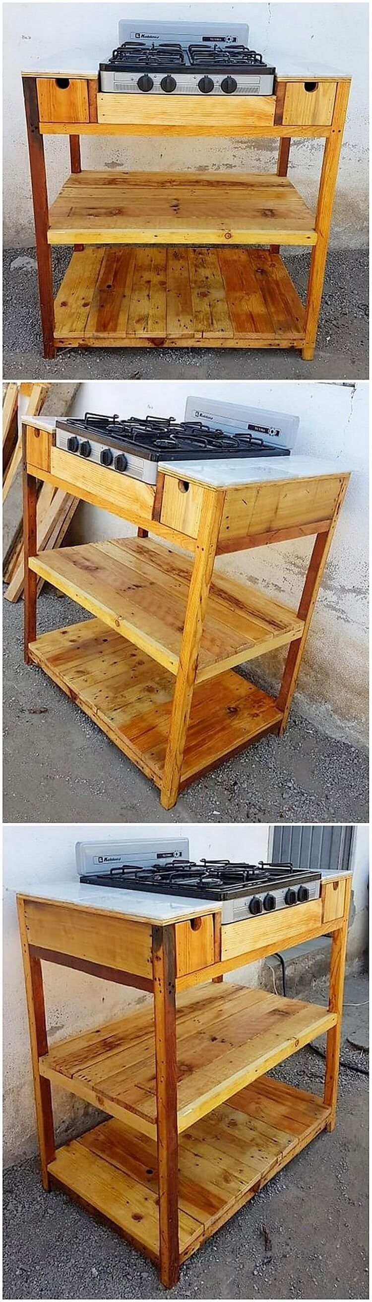 Pallet Stove Stand or Table