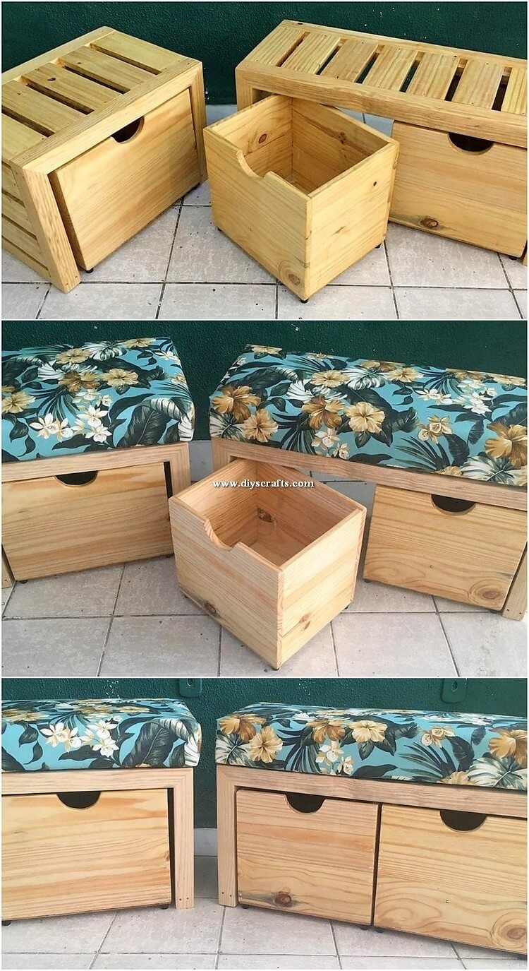 Pallet Seats with Storage