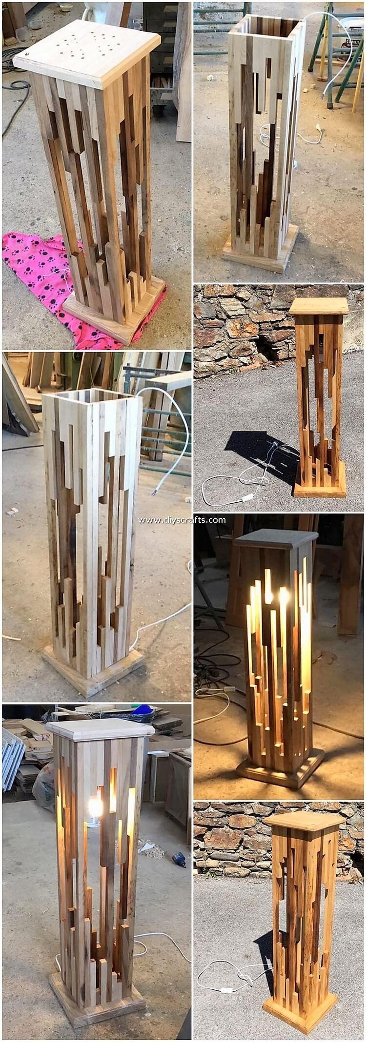 Pallet Lamp Frame